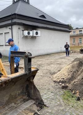 Rozpoczęcie prac budowlanych, modernizacyjnych prosektorium przy ulicy Waryńskiego