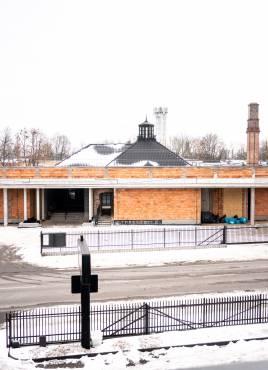 Postęp prac budowlanych, modernizacyjnych prosektorium przy ulicy Waryńskiego